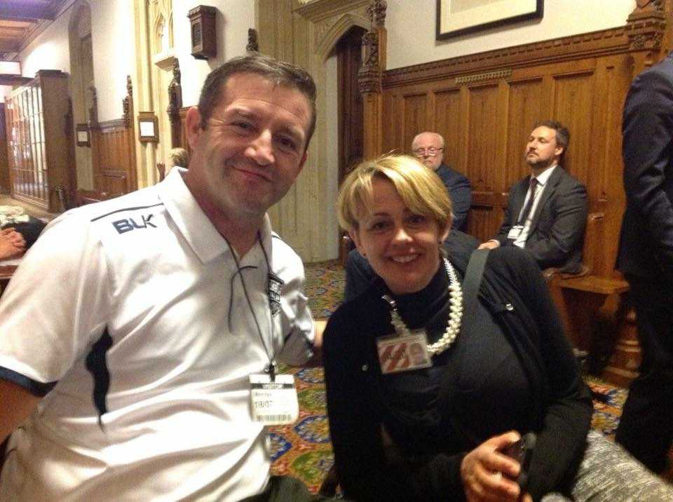 Jimmy Gittins and Dame Tanni Grey-Thompson
